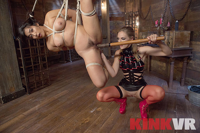 Lesbian Rope Slut VR Porn Video
