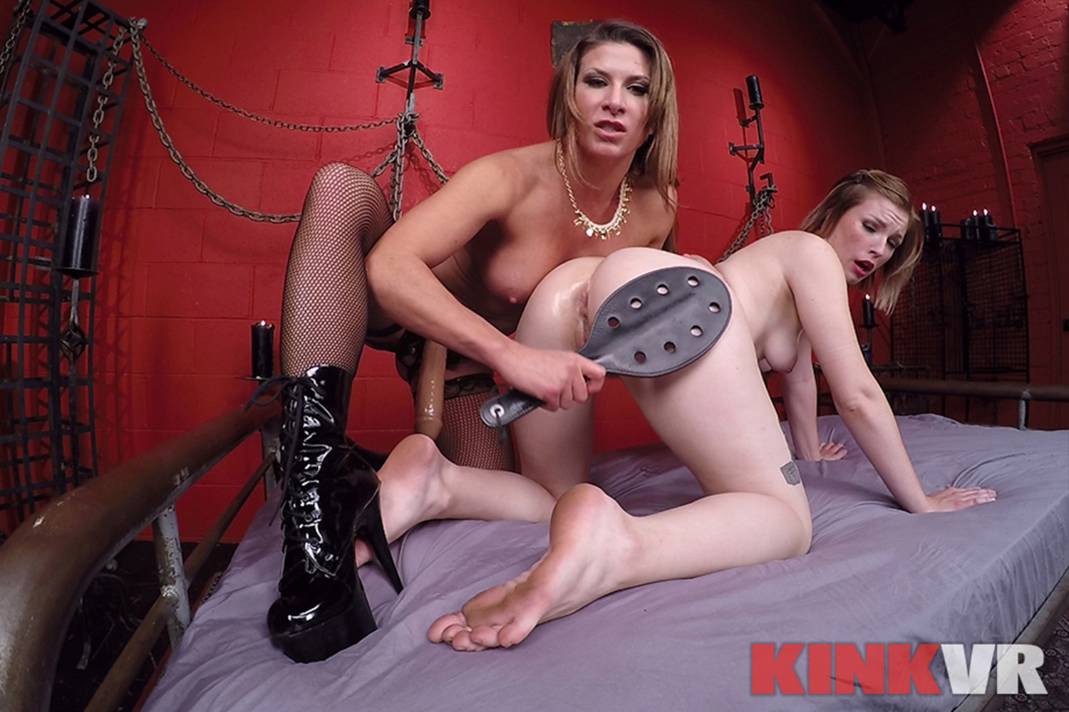Lesbian Strap-on Fucking VR Porn Video