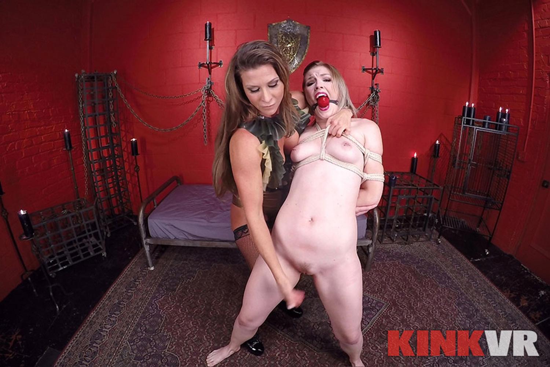 Ariel X and Ella Nova's Kinky Lesbian Sex Show VR Porn Video