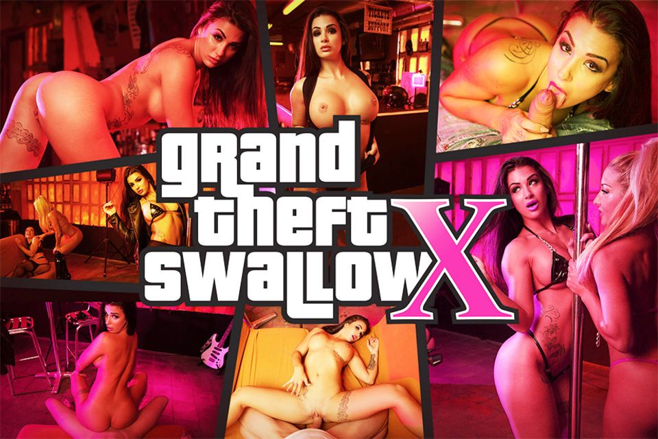 Grand Theft Swallow X VR Porn Video